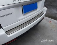 2006 - 2012 Range Rover Sport Stainless steel Rear Bumper Protector sill plate cover trim
