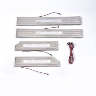 LED DOOR SILL SCUFF PLATE GUARDS FOR LAND CRUISER