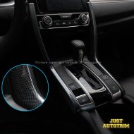 Black carbon fiber look dashboard Gear Side Cover trim for 2016 2017 Honda Civic