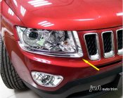 2011- 2013 jeep Compass Chrome headlight front light lamp cover trim