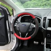 Genuine Leather steering wheel cover for 2015-2016 FORD EDGE