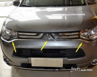 2014 Mitsubishi Outlander Chrome front bumper grille grill trim Molding