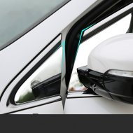 Chrome front Window triangle Decal Cover Trim Kit for 2015-2016 FORD EDGE