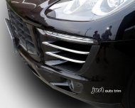 Chrome Front side grille molding cover trim for 2014 2015 Porsche Macan
