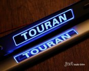 2004 2010- 2012 2013 VW Touran led door sill Illuminated plate guards steel