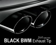 Pair Black Anodized Stainless Steel Exhaust Tip For Bmw 5 Series F10