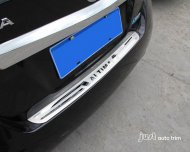 2013 NISSAN ALTIMA Stainless steel Rear Bumper Protector sill plate cover