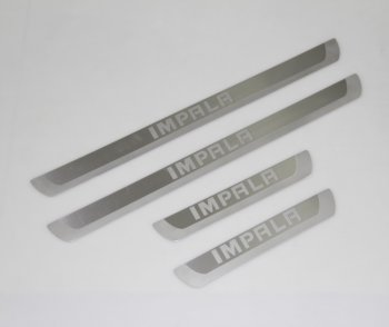Brushed Stainless steel Door Sill Plates for 2014 Chevrolet Impala 4pcs