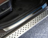 Bmw X5 E70 X6 E71 Brushed Stainless steel door sill scuff plate Guard 4pcs