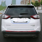 Rear door License plate frame cover trim for 2015-2016 FORD EDGE