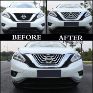 CHROME FRONT GRILLE GIRLL COVER TRIM FOR Nissan Accessories2015-2016 Murano