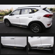 Chrome Body Door Side Molding cover trim for 2015-2016 Hyundai Tucson