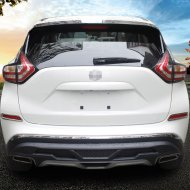 Chrome Rear Bumper Fog Cover Trim For 2015-2017 Nissan MURANO