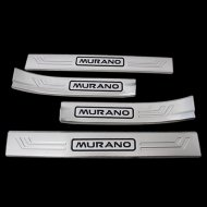 CHROME STAINLESS STEEL DOOR SILL SCUFF PLATES GUARDS FOR Nissan Accessories 2015-2016 Murano