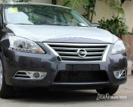 2013 Sentra Sylphy Chrome front bumper fog lamp cover trim