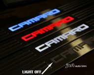 Camaro led ILLUMINATED Lighted door sill blue red wihte