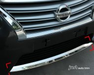 2013 NISSAN SENTRA SV Chrome front bumper grille lower cover trim