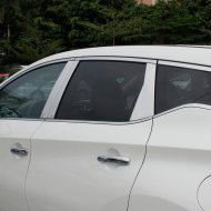 Chrome Door Pillar Post Window Decal For 2015-2017 Nissan MURANO