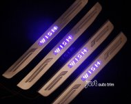 Toyota wish led door sill protector set