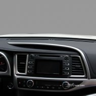 Chrome Dashboard Top edge Moulding Cover Trims for 2014-2016 Highlander