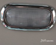 2007-2014 jeep compass Chrome Dome Light map light Cover trim 2pcs