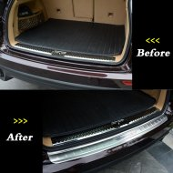 STAINLESS STEEL REAR BUMPER&CARGO PROTECTOR SILL PLATE COVER TRIM FOR Porsche Accessories 2011-2013 Cayenne