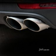 4 exit Pair Brushed Stainless Steel Exhaust Tip For 2014 2015 2016 Macan