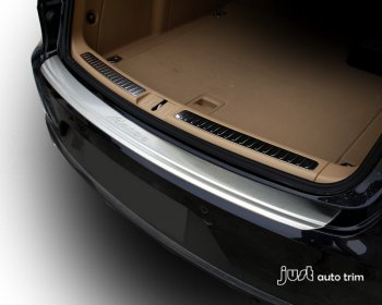 Stainless steel bumper sill plate cover for 2014 2015 Porsche Macan