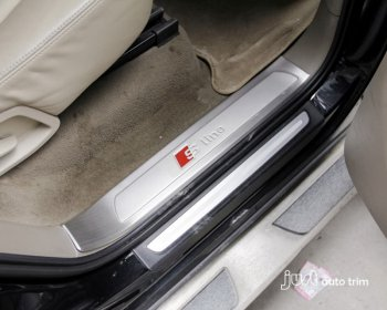 2011 -2013 AUDI Q7 Stainless steel inside door sill scuff plate