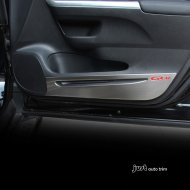 2012-2016 honda cr-v billet door kick plates logo polished stainless steel
