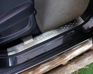 2014 SX-4 S-CROSS inside Brushed Door Sill Protectors Guards Scuff Plates