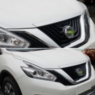 Chrome Front Bonnet Hood Trim Cover For 2015-2017 Nissan MURANO