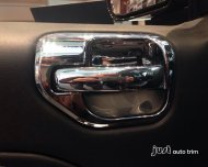 2010 2011 2012 2013 Jeep Compass Chrome inner doors handle bowl cover trim