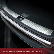 BRUSHED STAINLESS STEEL REAR BUMPER CARGO PLATE SILL COVER FOR 2015-2016 KIA SORENTO