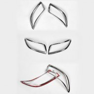 CHROME Front&REAR BUMPER FOG MARKER MOLDING COVER FOR Toyota Accessories 2008-2013 Camry / Aurion