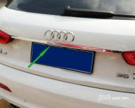 2012 2013 Audi Q3 Stainless steel rear TRUNK LID STRIP TRIM