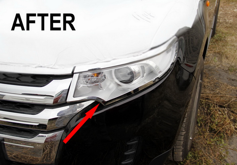 2011 2012 2013 FORD EDGE CHROME FRONT LIGHT HEADLIGHT TRIM ...