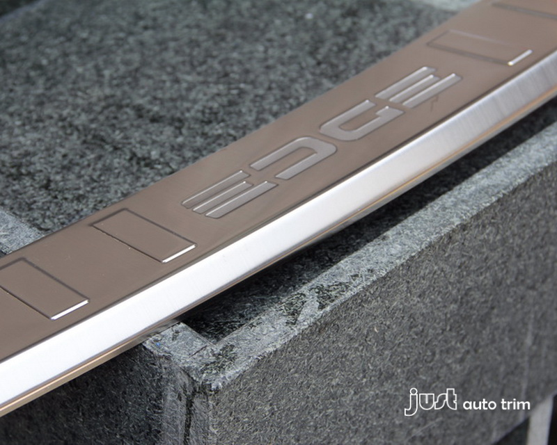 2011 2012 2013 2014 FORD EDGE 2.0T 3.5L steel Rear Bumper Protector sill plate trim fit - Click Image to Close
