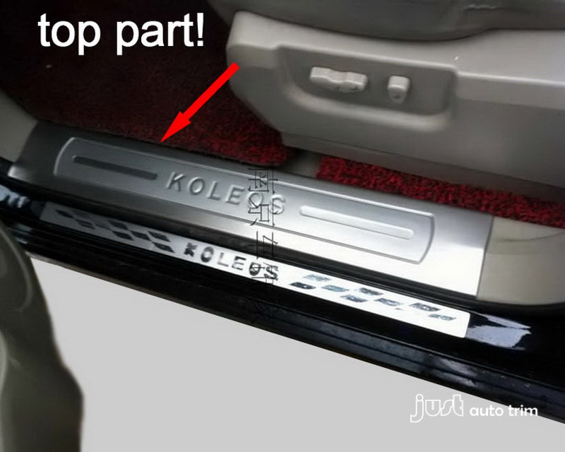 2008 13 Renault Koleos Brushed Stainless Steel Door Sill Scuff